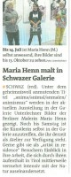Bezirksblatt SZ 11.7.2012 - Maria Henn malt in Schwazer Galerie