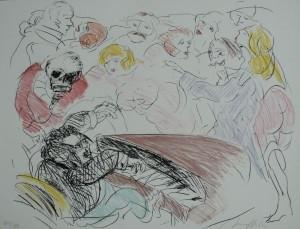 Hrdlicka, Der Himmel auf Erden, 1997, Siebdruck, 49x64cm